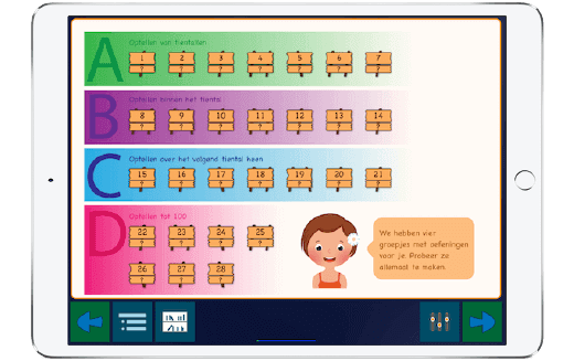 Bekijk een promotiefilm over de app waarin je leer hoofdrekenen tot 100.